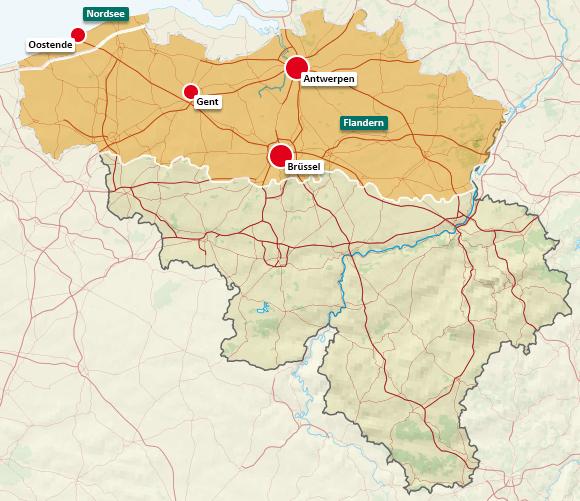 Urlaubsregionen in Belgien