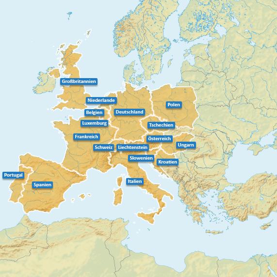 Urlaubsländer in Europa