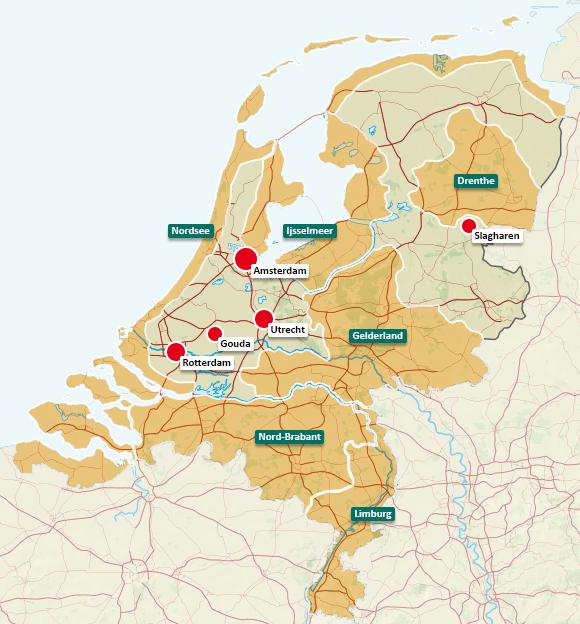 Urlaubsregionen in den Niederlanden