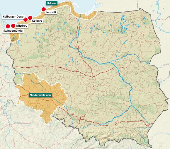 Urlaubsregionen in Polen
