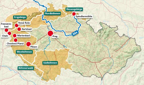 Urlaubsregionen in Tschechien