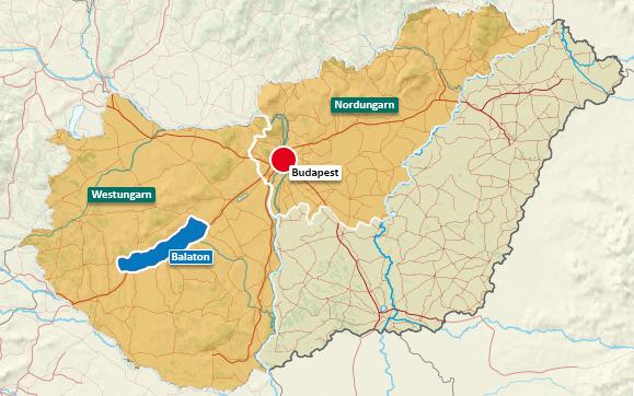 Urlaubsregionen in Ungarn